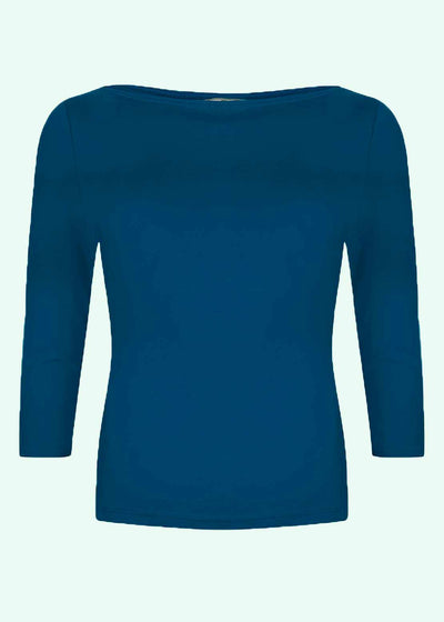 Very Cherry: Klassisk boatneck top i ocean toej Mondo Kaos