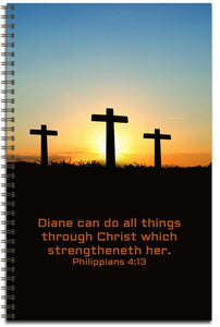3 Crosses - Personalized Journal