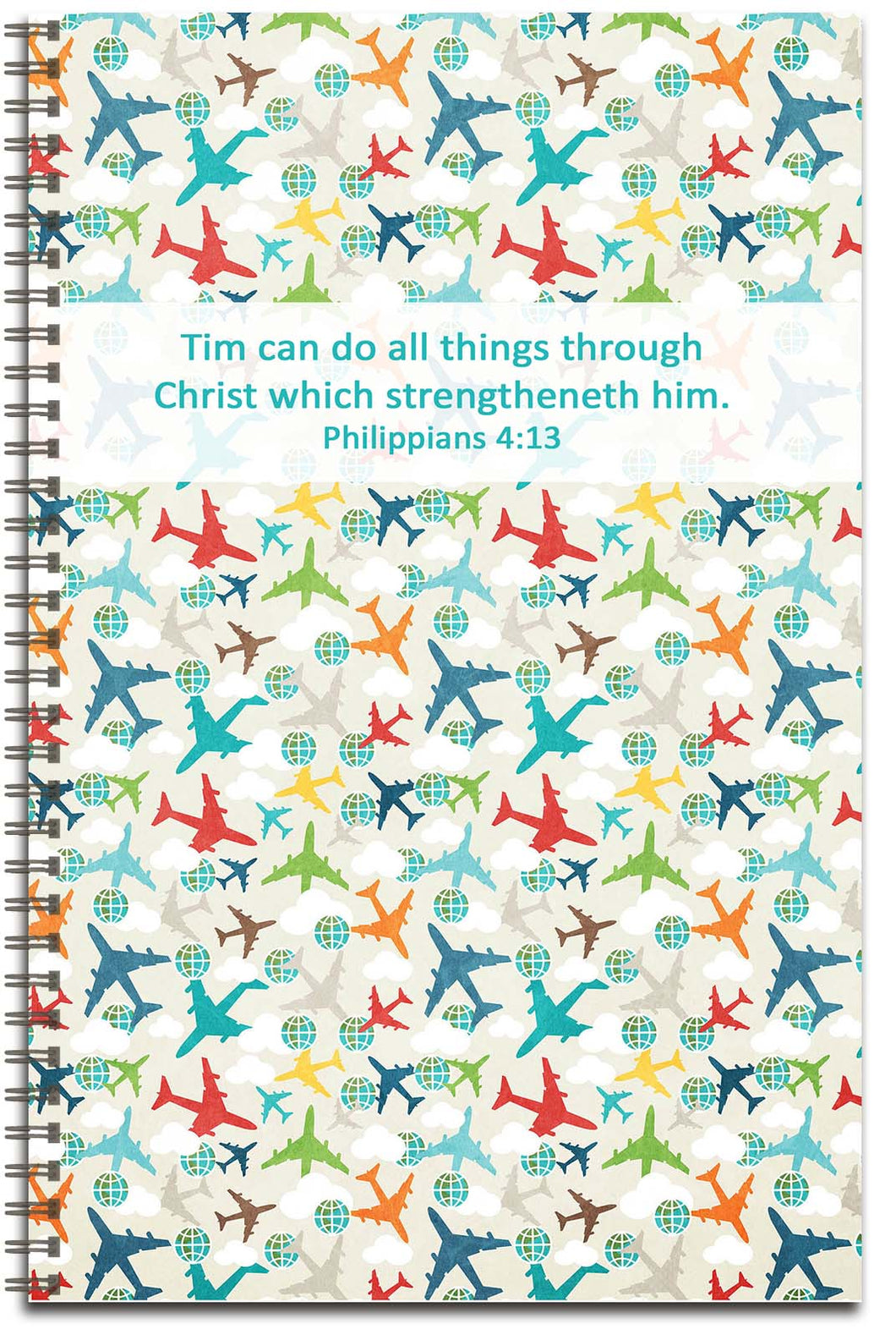 Airplane Travel - Personalized Journal