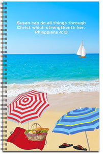 Beach Party - Personalized Journal