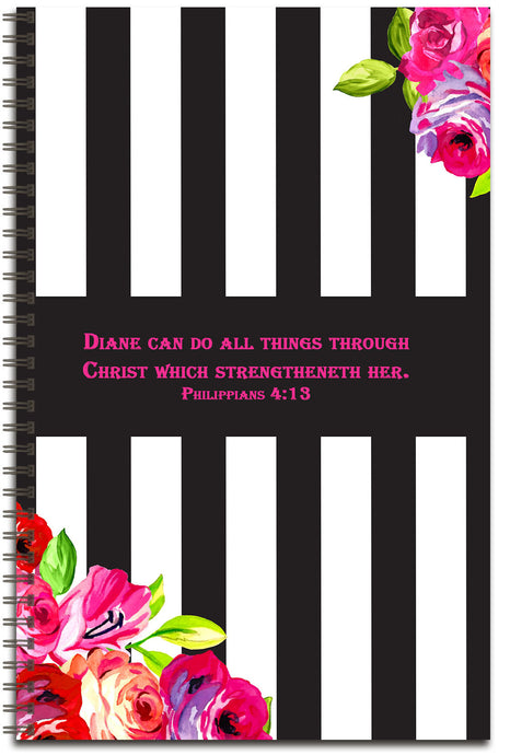 Bold Rose - Personalized Journal