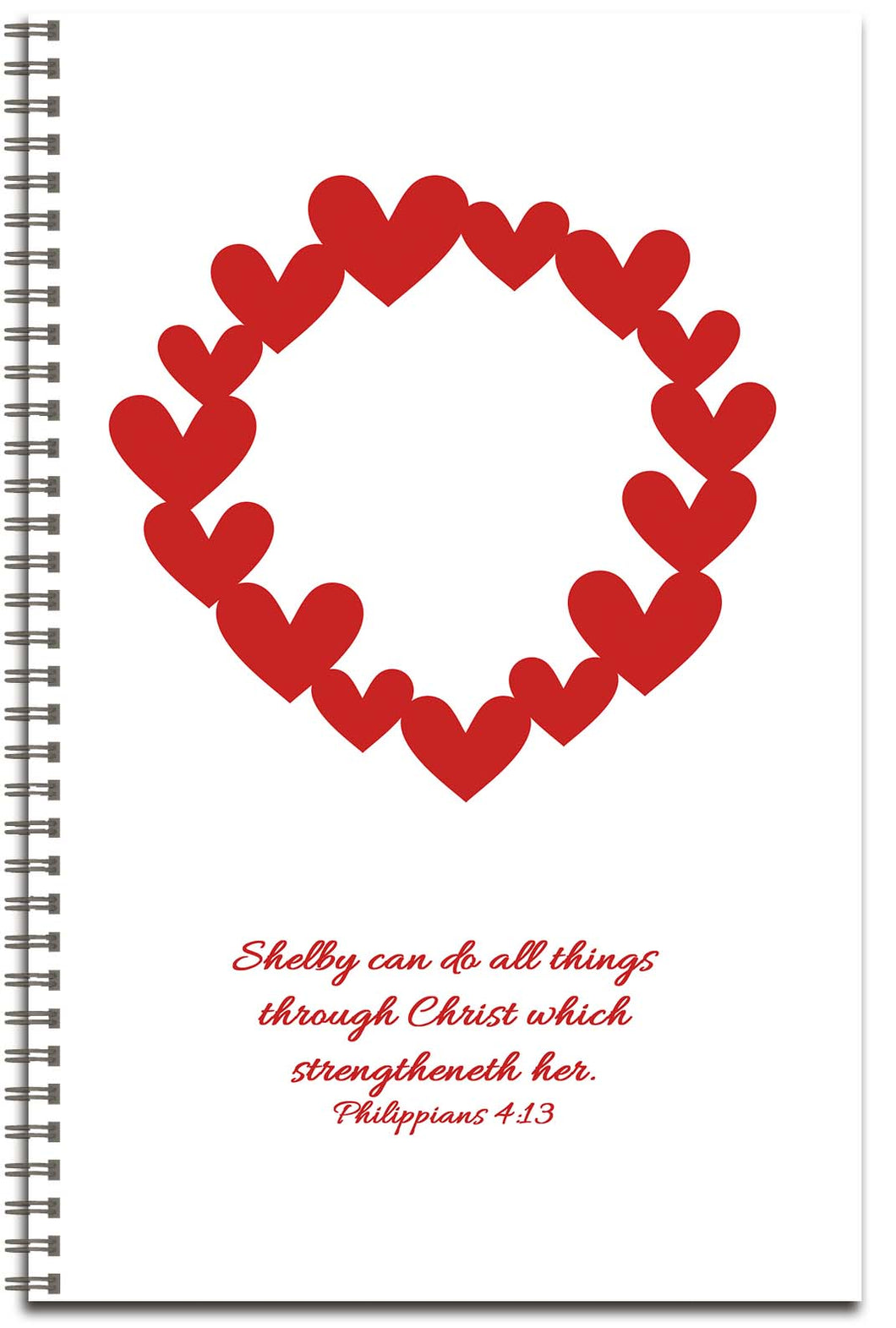 Circle of Hearts (cursive) - Personalized Journal