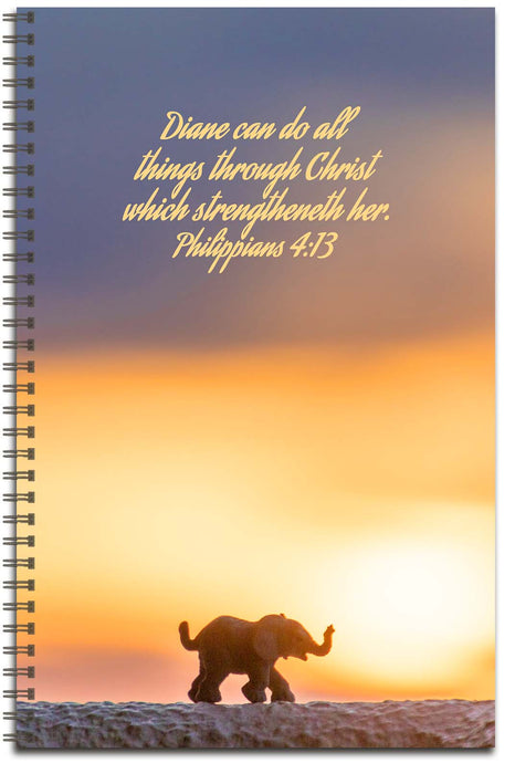 Elephant Sunrise - Personalized Journal