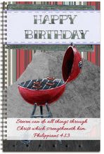 Load image into Gallery viewer, Flaming Birthday - Personalized Journal