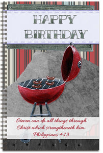 Flaming Birthday - Personalized Journal