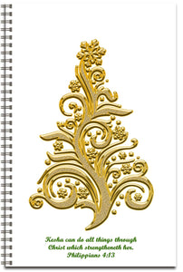 Golden Christmas - Personalized Journal