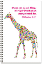 Load image into Gallery viewer, Mosaic Giraffe - Personalized Journal