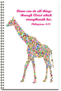 Mosaic Giraffe - Personalized Journal