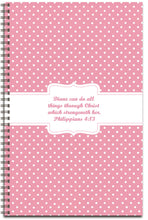 Load image into Gallery viewer, Pink Polka Dots - Personalized Journal