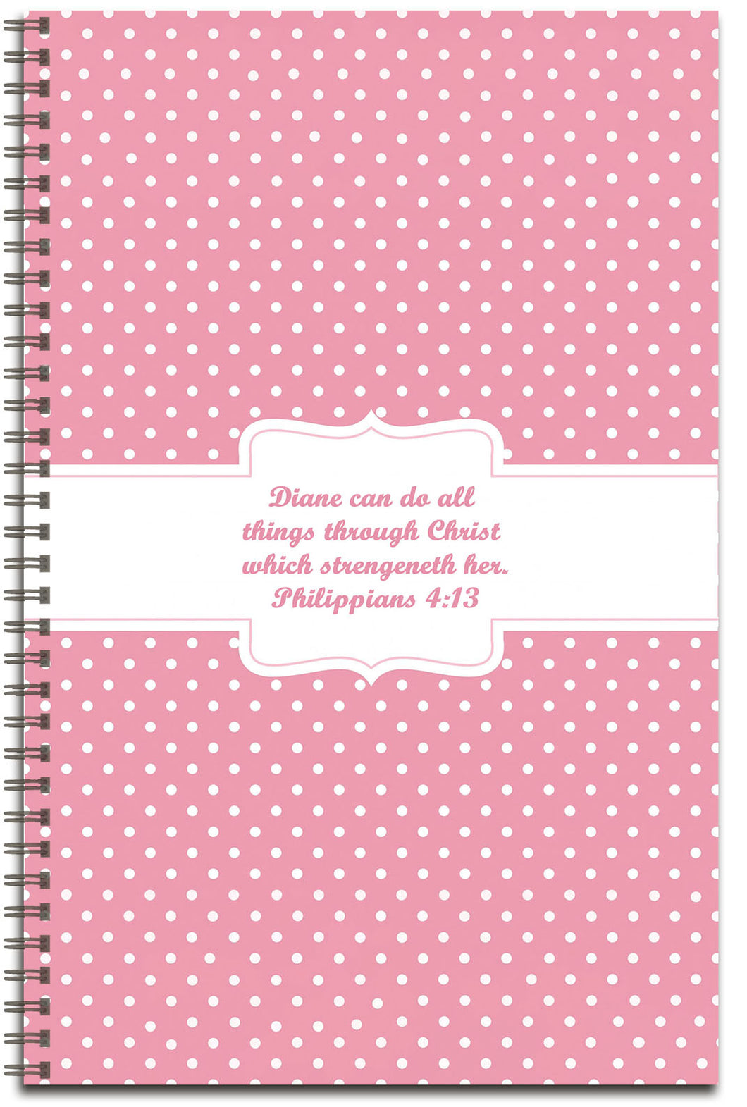 Pink Polka Dots - Personalized Journal
