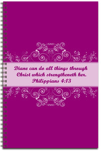 Plum Pudding - Personalized Journal