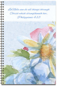 Watercolor Flowers - Personalized Journal