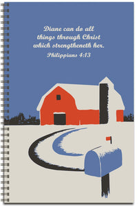Winter Barn - Personalized Journal
