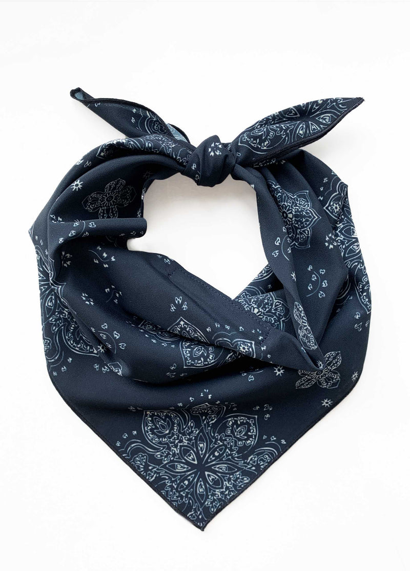 Navy White Bandana