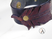 Leather Feather Antique Style Bracelet