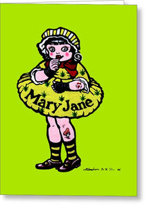 Mary Jane - Greeting Card