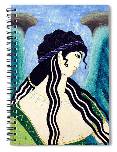 Minoan Blue Angel - Spiral Notebook