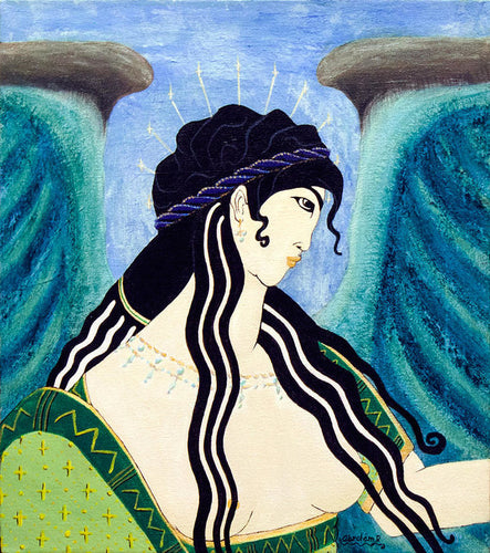 Minoan Blue Angel - Art Print