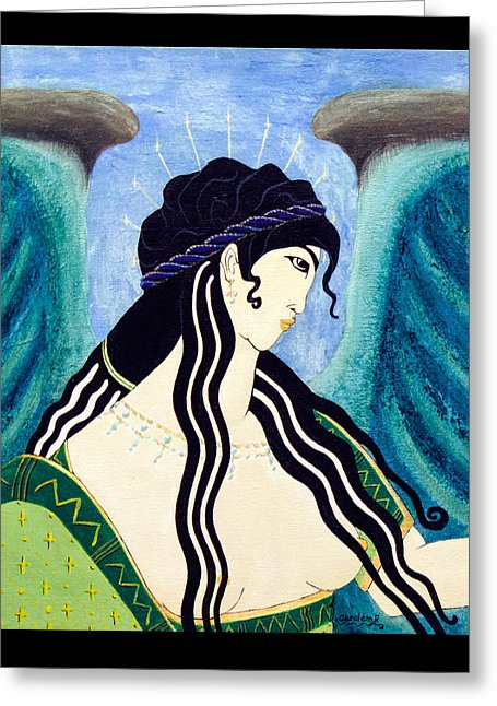 Minoan Blue Angel - Greeting Card