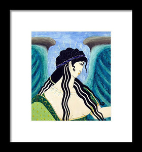 Minoan Blue Angel - Framed Print