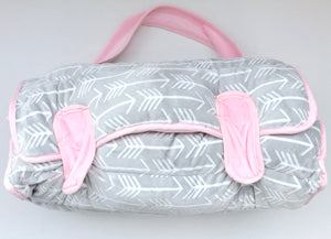 Pink/Grey Arrow Nap Mat
