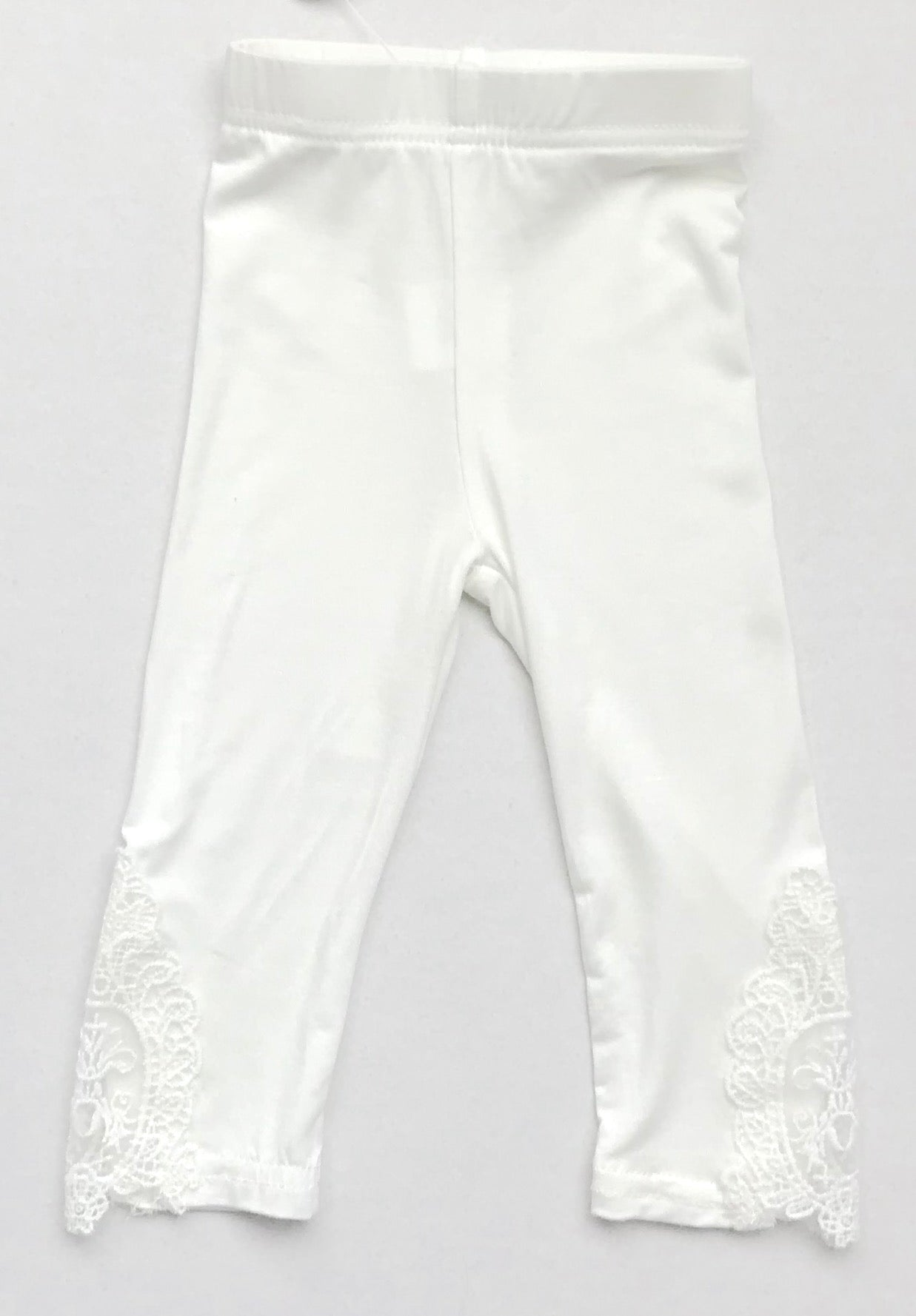 White Legging W/ Lace