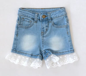 Lace Denim Short