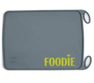 Grey Foodie Roll-Up Placemat