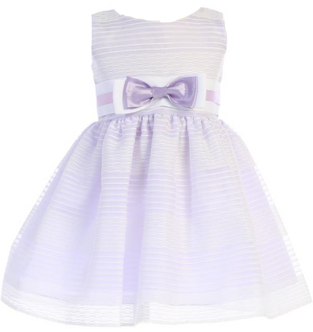 Lilac Striped Organza Dress