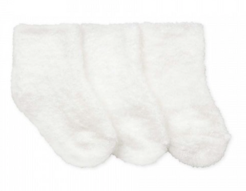 White Fuzzy Socks (3-pack)