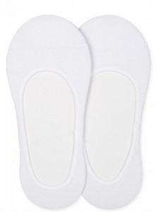 White Seamless No-Show Sock Set