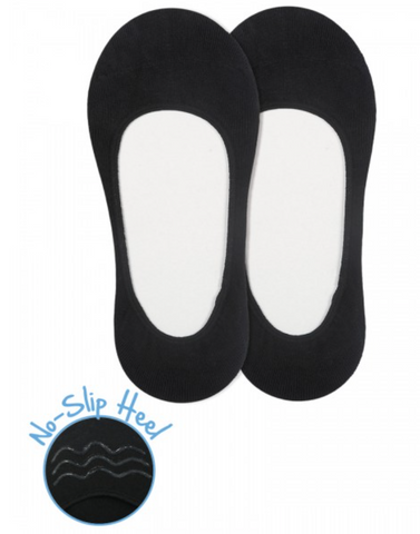Black Seamless No-Show Sock Set
