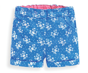 Bright Blue Floral Shorts
