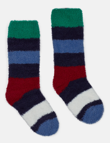Multi-Stripe Fluffy Sock