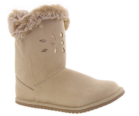 Tan Suede-Cloth Boot