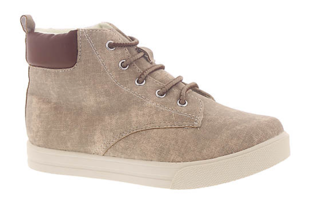 Taupe Lace Up Hi-Top Sneaker