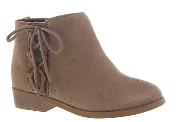 Taupe Suede Lace-Up Ankle Boot