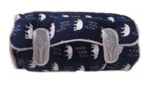 Navy Bear Nap Mat