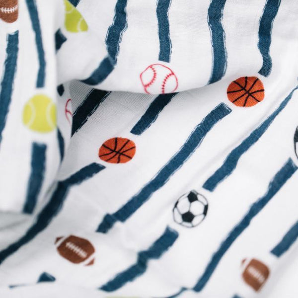 Play Ball Bamboo Muslin Swaddle