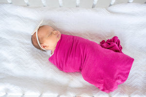 Berry Knit Swaddle Blanket