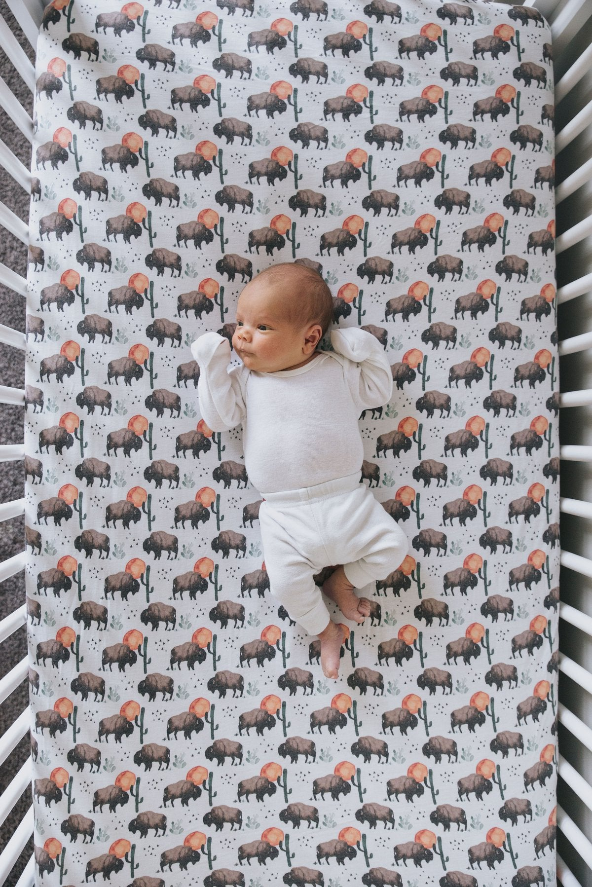 Bison Knit Fitted Crib Sheet