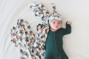 Bison Knit Swaddle Blanket