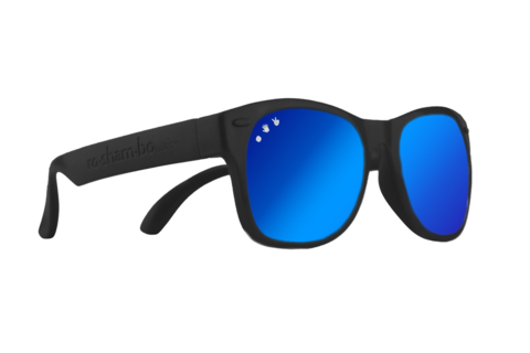 Black W/ Blue Mirrored Toddler Shades