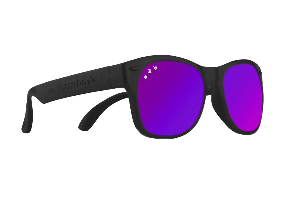 Black W/ Purple Mirrored Toddler Shades