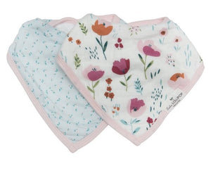 Rosey Bloom Bandana Bib Set