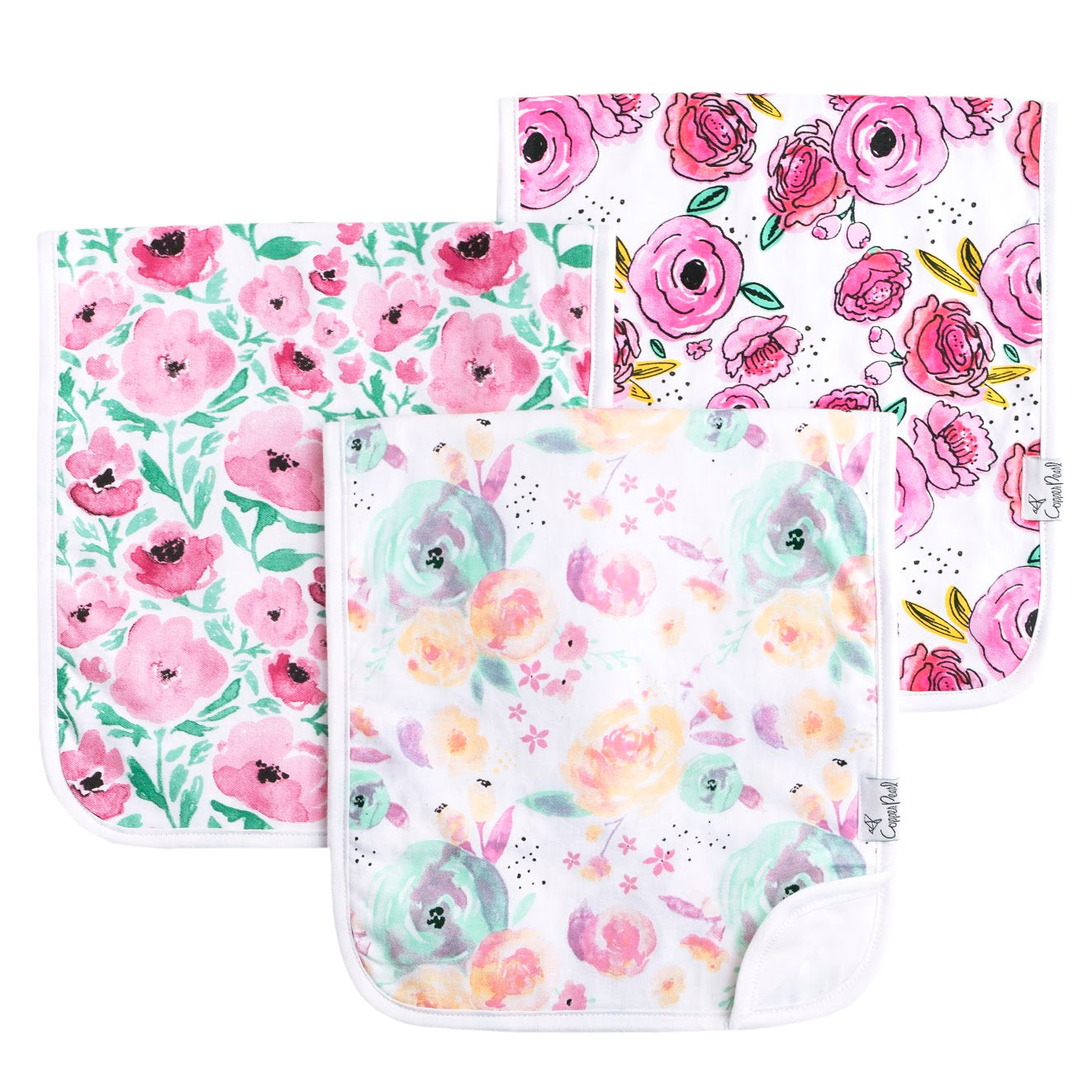 Bloom Burp Cloth Set (3-pack)