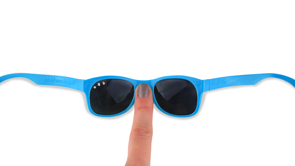 Blue Mirrored Toddler Shades