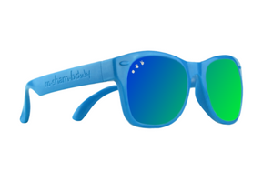 Blue W/ Green/Blue Mirrored Baby Shades