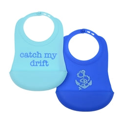 Catch My Drift Silicone Bibs (2 pack)