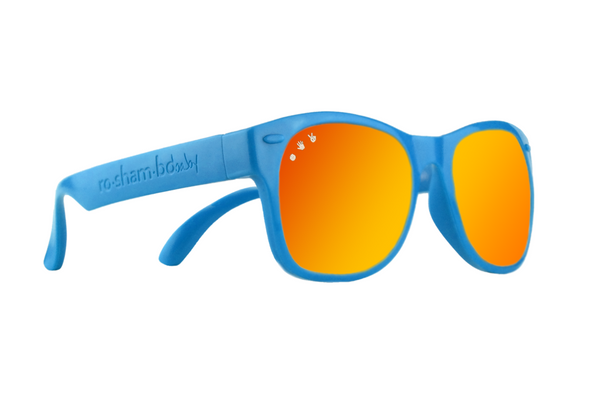 Blue W/ Red-Orange Mirrored Baby Shades